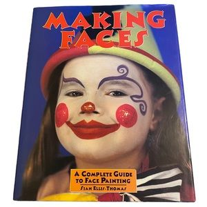 Vintage 90's Making Faces Hard Cover Book